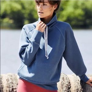 Free People Movement Blue Cowl Pullover Sweater